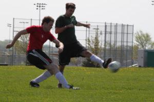 Daniel playing soccer