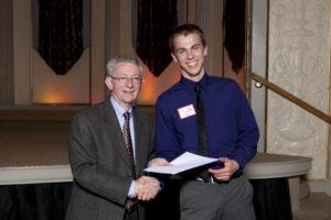 John Idlas receiving the Hilldale Award