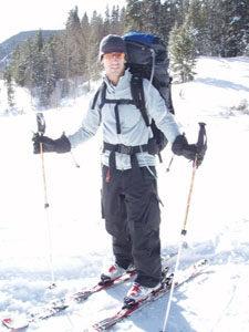 john skiing