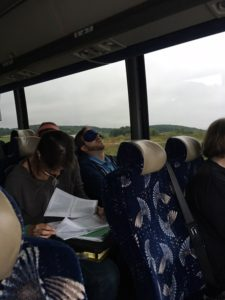 Traveling on a bus